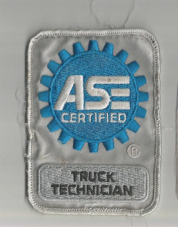 Ase Certified Truck Technician Patch 4 718 X 2 78 Etsy