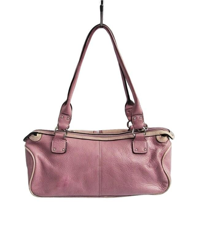 5bbefba31da4 Preppy Pink Leather Bag Fossil Handbag Lilac Baguette Saddle Bag Style Purse  Lavender Purple Shoulder Bag