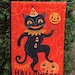 elma reviewed Small Garden Flag Halloween Dancing Black Cat Johanna Parker Design Garden Flag