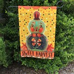 SHIPS After October 12th* Small Garden Flag Sweet Harvest Pumpkin Fall Autumn Johanna Parker Design Garden Flag