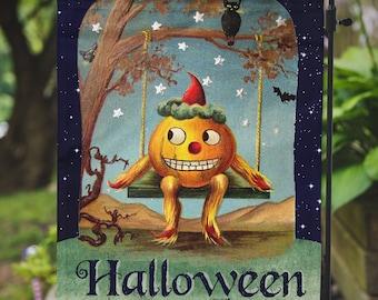 Garden Flag Vintage Halloween Pumpkin Guy Outdoor Flag