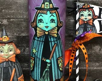 SHIPS AFTER 11/1/2021 LiMITED EDiTION 30 oz Skinny Drink Tumbler Johanna Parker Halloween Hannah Hocus witch GLoW in the DArK