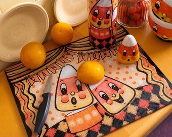 Personalized Glass Recipe Cutting Board Johanna Parker Candy Corn Halloween