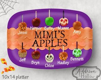 Platter Custom Grandma Mother Name Halloween Candy Apples