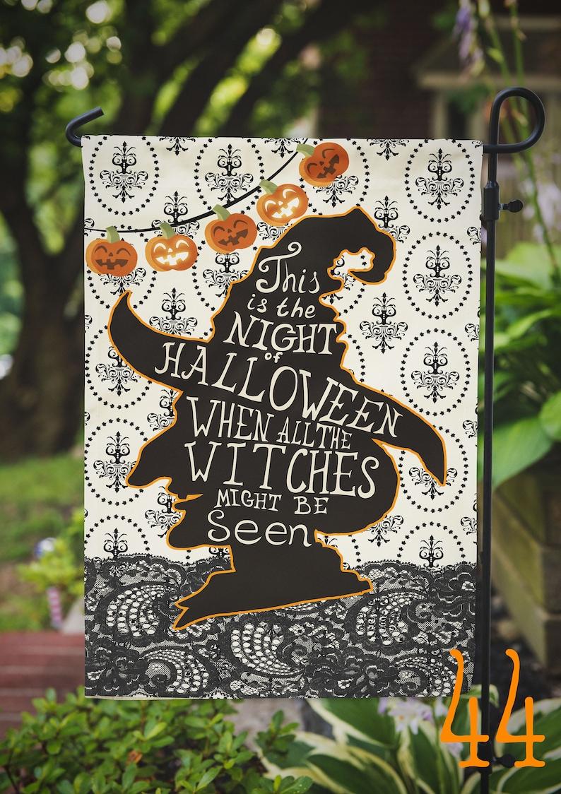 Halloween Witch Garden Outdoor Flag image 0