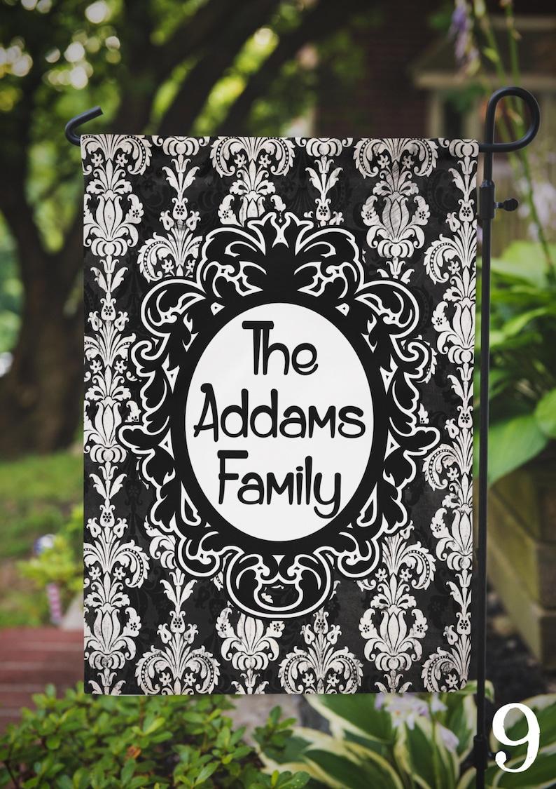 Garden Flag Fall Halloween Personalized Name Monogram Family image 0