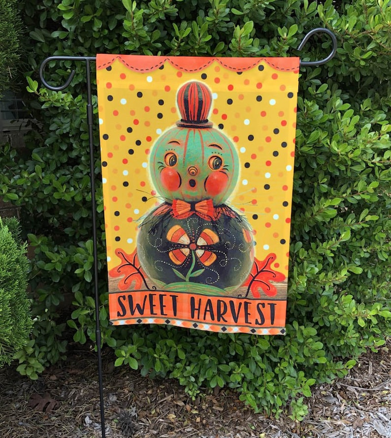 SHIPS After October 12th Small Garden Flag Sweet Harvest image 0