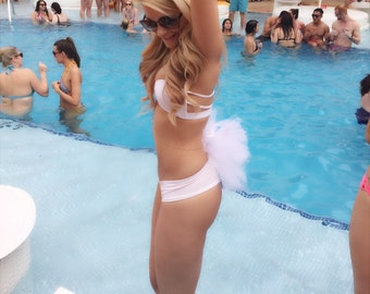Bachelorette Party or Bridal Booty Veil - Add a little Pow to your Bikini or Skirt Hen Party Stagette