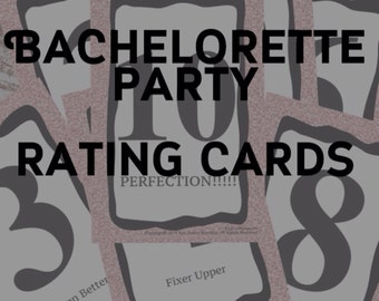 SALE!!! INSTANT DOWNLOAD: Bachelorette Party Hottie Rating Cards. Have a fun filled Girls night out or Hen Party!