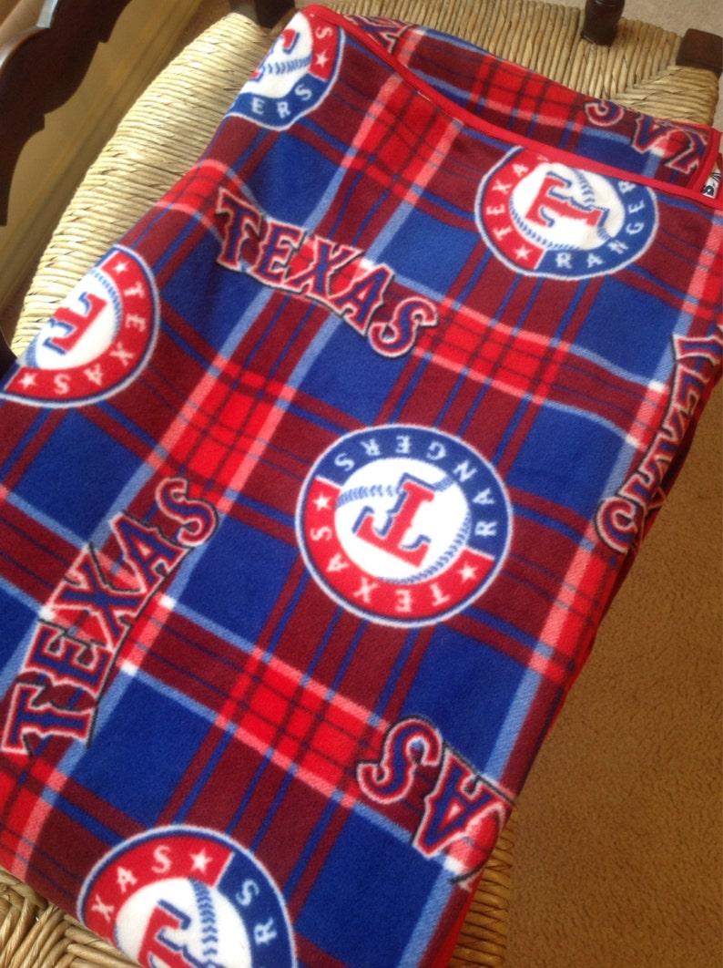 Handmade Dallas Cowboys Texas Rangers Blanket
