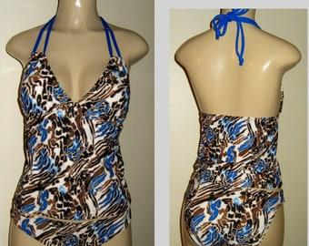 cacba31f50 Tankini double string top low rise bikini bottoms swimwear tankinis womens  halter bathing suits plus size swimwear tankini tops plus size