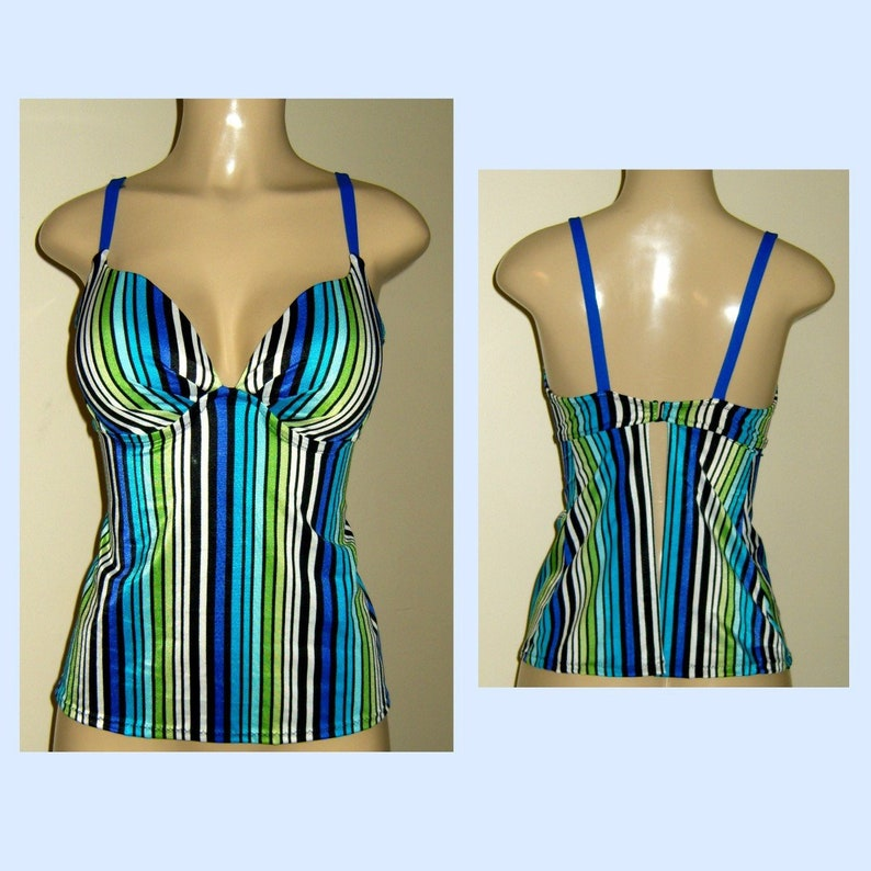 96afc17bf5bba Push up underwire tankinis open back tankini swimsuits tops | Etsy