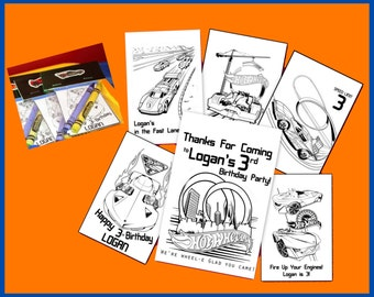 Hot Wheels Personalized Coloring Book