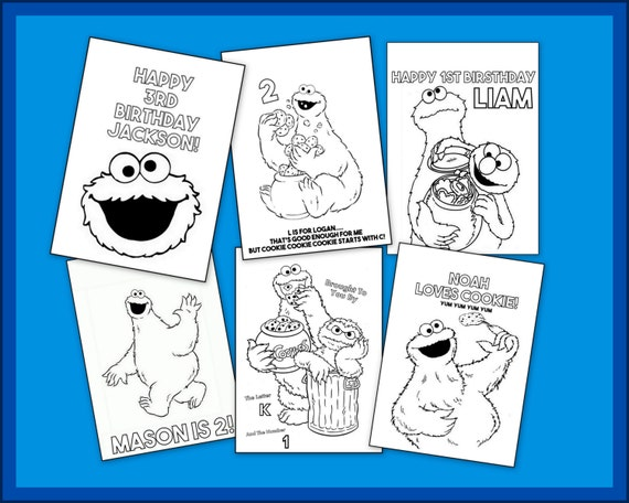 Cookie Monster Coloring Book