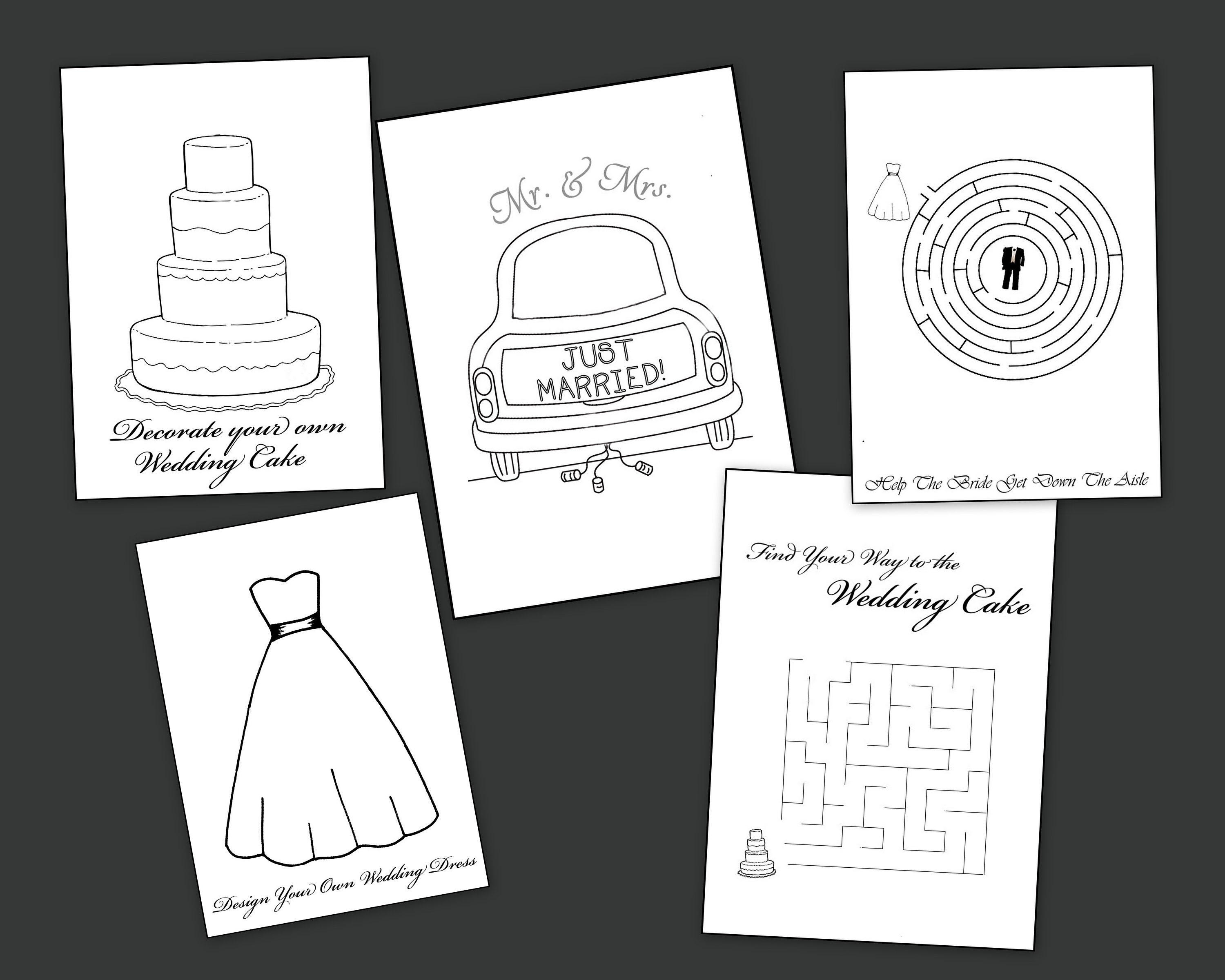 Wedding Coloring Pages Party Favors Activities Gifts | Etsy