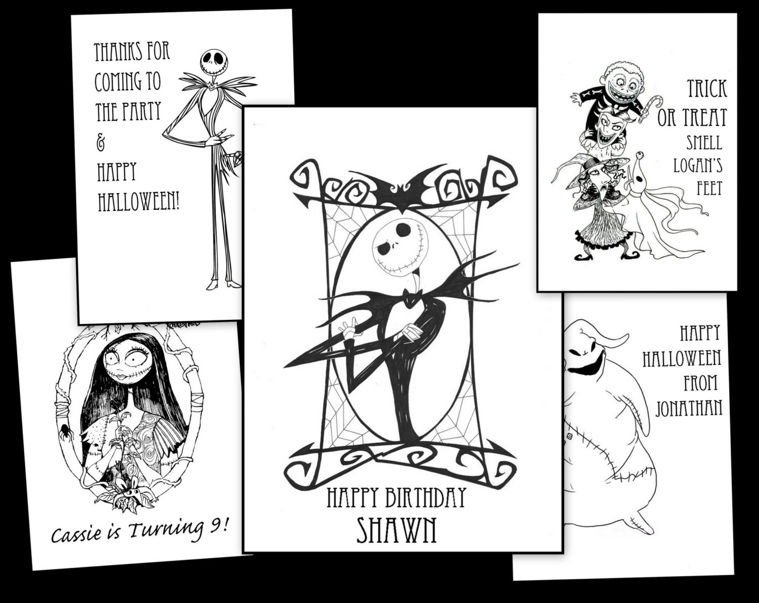 Nightmare Before Christmas Personalized Coloring Book For