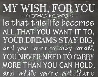 My Wish Lyrics Etsy