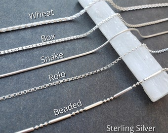 ADD ON - Sterling Silver Chains