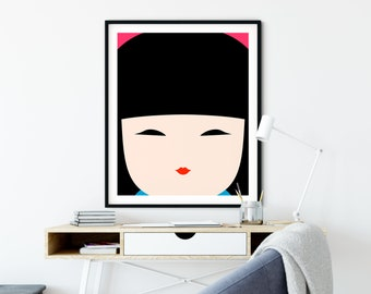 Kokeshi Doll No. 1 Art Print