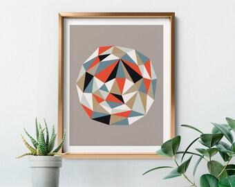 Mid-century Modern Geometric Print