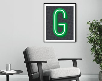 The Letter G Typographic Print