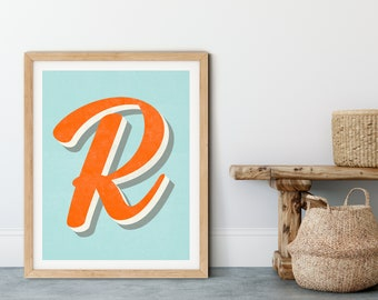 The Letter R Typographic Print