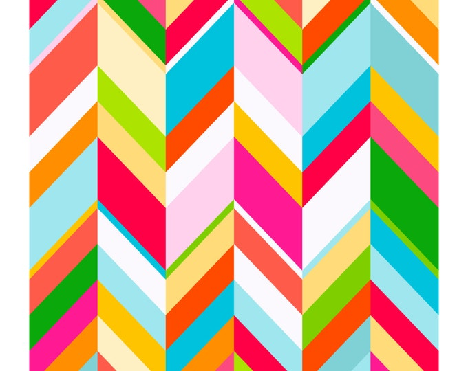 Chevron Pop, Original Art Print, Colorful Patterned Print