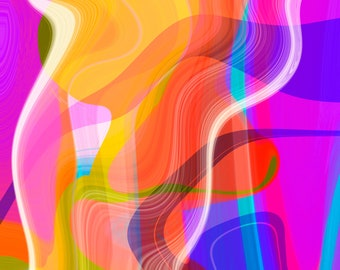 Abstract Art Number 10, Modern Art, Colorful Print
