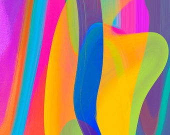 Abstract Art Number 5, Modern Art, Colorful Print