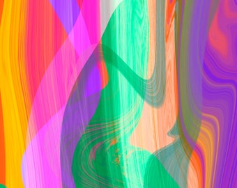 Abstract Art Number 11, Modern Art, Colorful Print