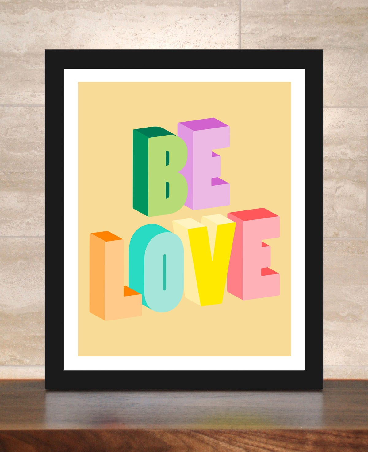 Be Love Poster - Inspirational Art Print - Colorful Typography ...