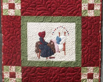 Twas Sunbonnet Sue Christmas Wall Hanging Pattern