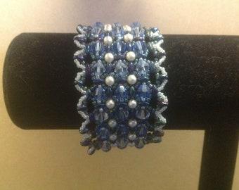Beaded Embroidered  Bracelet