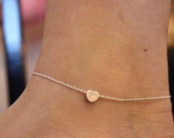 Initial Anklet Etsy