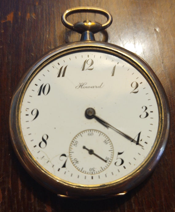 Antique Howard Watch Company Boston Gold Filled Ke