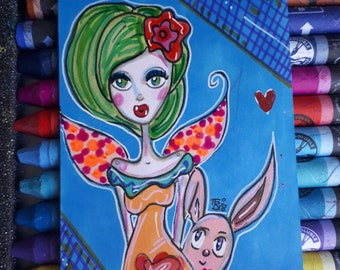 Aelfraed the fairy / Original ACEO