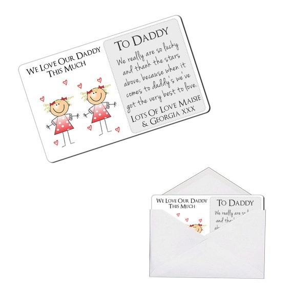 Personnalisé sentimental mieux avec vous Portefeuille en Métal de Carte D/'Anniversaire Cadeau Présent