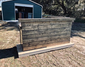 Hello Shabby Ebony - Shabby Chic Rustic Barn Wood Style, Pallet Style 2 level Reception desk