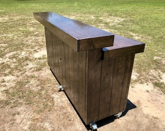 The Espresso Beffet - Pallet style  2 level Rustic Bar with mini fridge space and 2 shelves