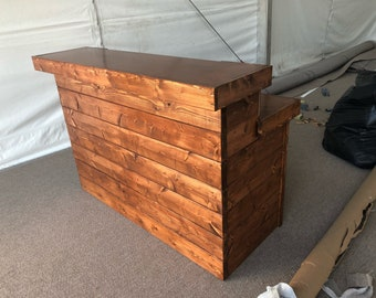 The Canyon - 5 foot Pallet style or Barn Wood style  2 level Rustic reception desk,  stained and polyurethaned
