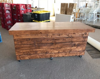 The Canyon Buffet Table - 6' mobile pallet or barn wood buffet table or desk