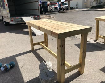"The High Top Bar Table - 6 foot 6"" hightop bar table, seats 6 to 8 people"