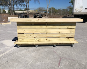 Elyse 2 Level - 8' 2 level pallet look rustic real pressure treated wood outdoor or indoor patio