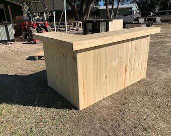 Outdoor Treated Wood Bar