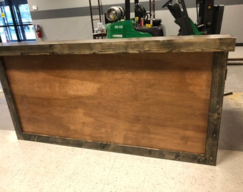The Anthem - 7' contemporary / rustic  two level reception desk, sales counter or bar