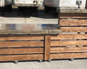 The Real Renee's cousin - Pallet style rustic reception desk or sales counter
