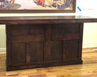 The Marc - Hand Crafted Red Mahogany English Pub Style Bar, made from real wood