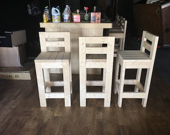 Interior Bar Stool - Durable Rustic Indoor Bar stools, hand made