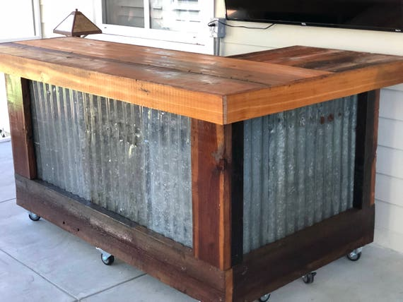 The Rough And Rustic L Shaped Bar 7 X 4 L Shaped Etsy