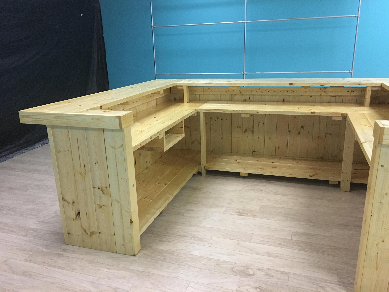 CUSTOM The Cashwrap - 8 x 12 x 4 rustic wood sales counter ...